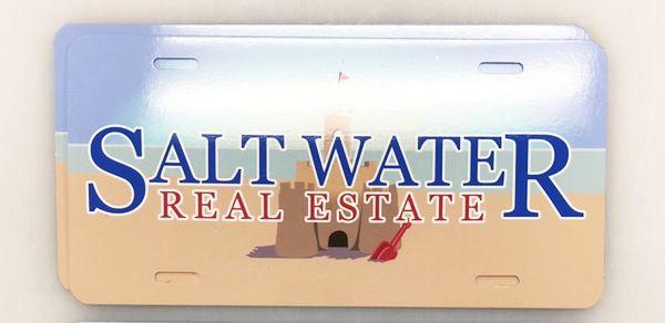License Plates Saltwater Real Estate